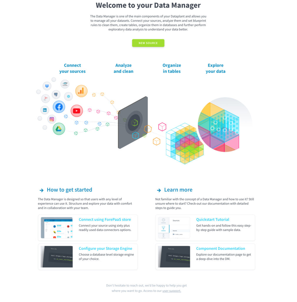 Welcome to your data manager